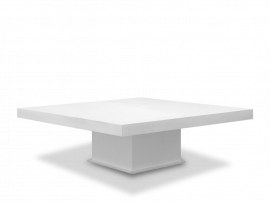 Carre White Low Table